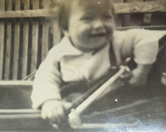 Vintage Photo - Baby in a Pram