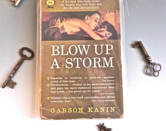 Vintage Pulp Fiction 50s Sex Drugs Jazz Novel Blow Up a Storm - on sale