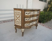 FLORENTINE 3 Drawer Gilt Dresser Console Table or Commode (Los Angeles)