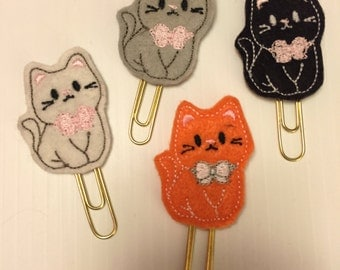 Kitty Cat Felt Clip