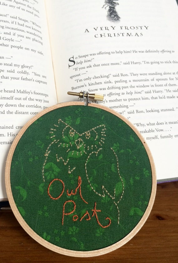 Small Round Harry Potter Owl: Hand-stitched Needlepoint