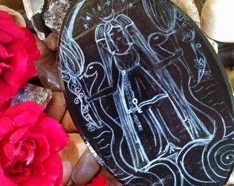 Goddess Hekate Wood Plaque ***DARK***