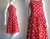 vtg 70s Lanz cotton dress iconic piece