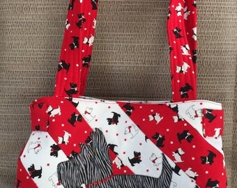 Purse - The Kona Purse, Schnauzers in Red, Black and White