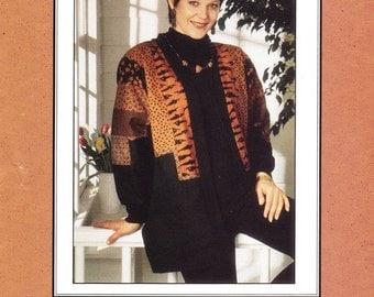 """Rag Merchant """"Baubles & Bangles"""" Jacket Pattern, Wearable Art, Patchwork Applique Jacket, Five Sizes, Jill Abeloe Mead 1995, Sewing Pattern"""