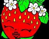 Shopkin Inspired Strawberry Kiss Die Cut File