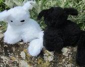 Cuddly Kitten Toys Furry Black and White Plush Animal Art Dolls Safe Pram Cot Cuddlies Boy Girl Gift Unusual Christmas Stocking Stuffers