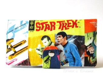 Handmade wallet for women - My favorite TV serie movie, Star Trek - Science fiction - Ready to ship - ID clear pocket - gift ideas for her