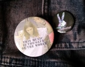 Eddie large Empire Records pin badge Rex Manning Day button pinback buttons Damn the Man Save the Empire