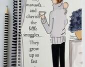 Gratitude Journal - Tiny Moments - Gift Ideas - Notebooks - Gifts for Mom Women Teachers -