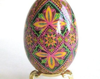 Goose Egg Pysanka personalize this gift for your mom keepsake she would love very much hand-painted batik collectible egg ornaments