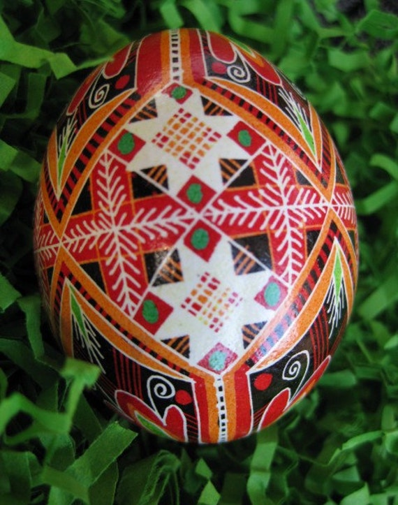 Traditional Ukrainian Easter Gifts Red By Ukrainianeastereggs