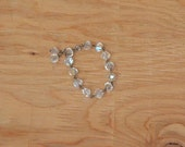 Reserved For Basil Vintage 50's Beautiful Clear Crystal Glass Sparkly Bracelet