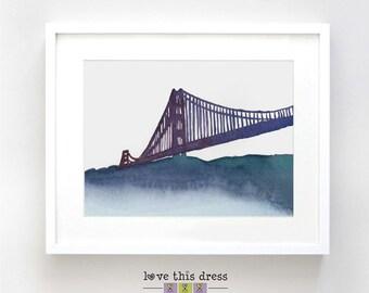 San Francisco Original Watercolor