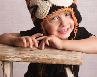 Crochet Pattern, Tiger Hat - Instant Download