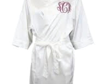 Short Satin Robes for Women - Personalized just for YOU, Great for the wedding day! Perfect for the spa. UNISEX fit