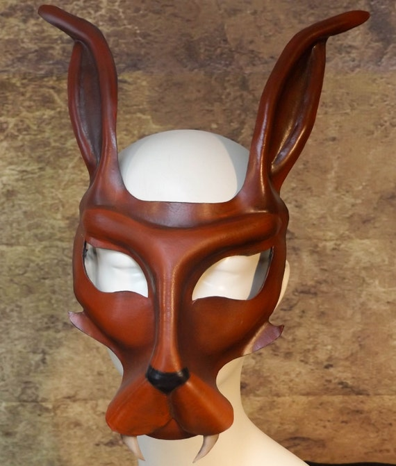 Jackal Leather Mask