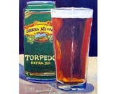 Torpedo IPA by Sierra Nevada Brewing Beer Art Print, California Beer Art, Gift for Husband, Man Cave Beer Poster, Gift for Brother, Bar Art