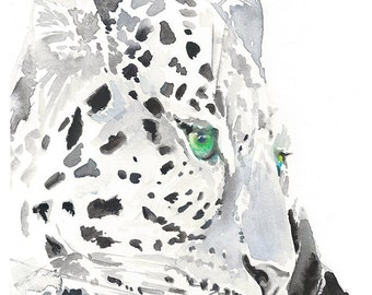 Download Leopard Print, Leopard Wall Art, Leopard watercolor, Animal Wall Art