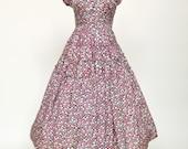 Vintage 1950s Dress...JONATHAN LOGAN Floral Print Day Dress