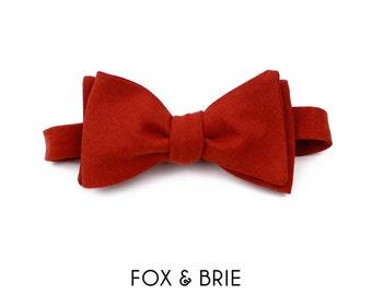 Rust Linen Bow Tie