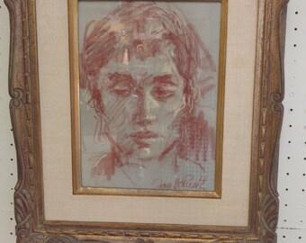 Jan de Ruth Portrait on paper