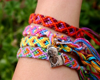 100% Donated-Cat friendship bracelet-all proceeds