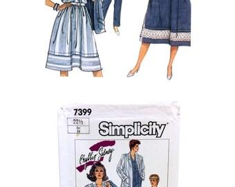Blouse Pattern Misses Pants Pattern Misses Skirt Pattern Misses 22 Half Size 80's Simplicity 7399 Pattern Jacket Pattern Phyllis Sidney