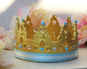 Little prince Gold Crown Cake topper, baby prince, prince cake topper, prince baby shower, prince baby shower decorations