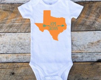 Baby Boy Onesies®, State Onesie for Boys, Baby Boy Onesie with State, Home Grown Onesie, State Bodysuit, Made In State, Texas, California