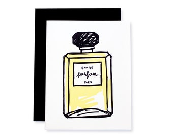 Eau de Parfum Beauty Letterpress Card