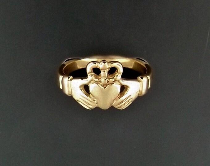 Medium Antique Bronze Claddagh Ring