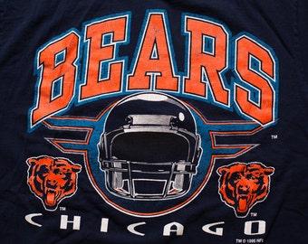Chicago Bears T-Shirt, Vintage 90s, NFL Team Apparel, Logo 7 Brand