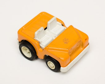 Orange Tonka Jeep Buggy Toy Car, Metal and Plastic, Vintage 70s-80s