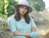 Sale, Womens blouse, Winter top, polka dots, Women shirt, long sleeves, elegant top, womens shirt, womens top, winter blouse, buttoned shirt