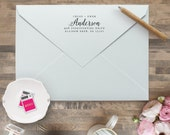 Custom Return Address Stamp - Personalized Address Stamp - Self Inking Return Address Stamp - Calligraphy Return Address Stamps