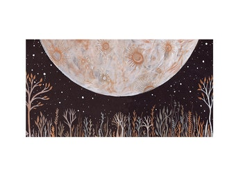 Moon Art, Limited Edition Print-Of Earth and Sky