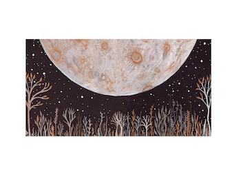 Moon Art //  Limited Edition Print // Nursery Decor // Of Earth and Sky