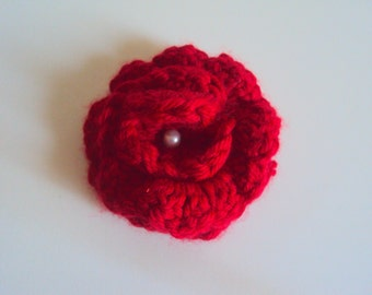 Crochet Rose Brooch Handmade Crochet Brooch Crochet Jewelry Fashion Accessories Gift Decorations Embellishment Clothing Accessories