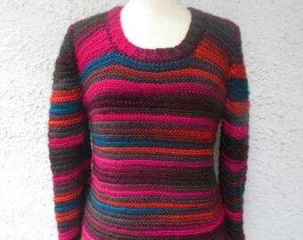PDF Pattern Crochet Sweater Women Over the Ridge Crewneck Sweater Sizes Small Medium and Large