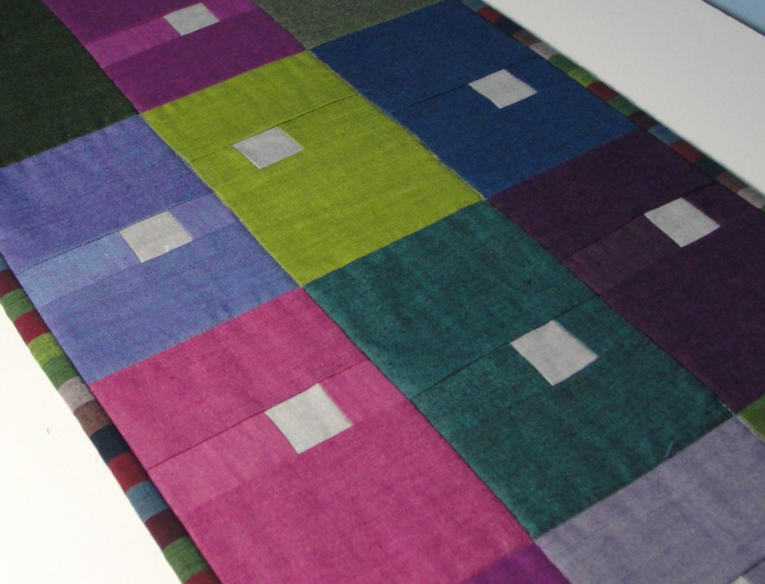 Quilted Modern Table Runner By Countrysewing4u On Etsy