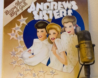 """The Andrew Sisters Vinyl Records Albums 1940s Vocal Harmony Swing Girl Power Pop Female Trio """"Boogie Woogie Bugle Girls"""" (1973 Paramount)"""