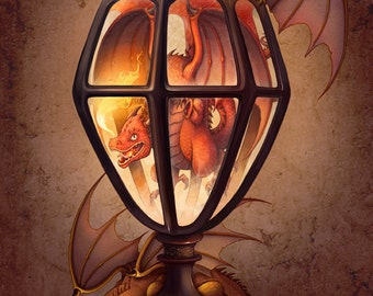 The Dragon Lantern Art Print