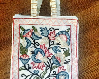 Kashmirvalley Hand Embroidered and Crafted Fabric Tote Bag