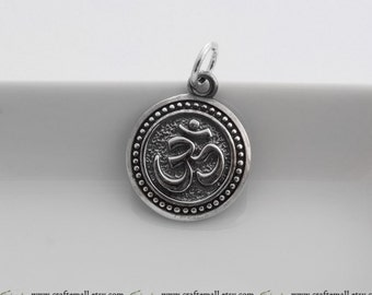 1 Sterling Silver Om Pendant - xcpd017