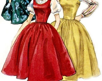 1950's Rockabilly Jumper and Blouse Pattern  SIMPLICITY 1699 1956 Vintage Sewing Pattern  UNCUT  Factory-folded  Bust 32