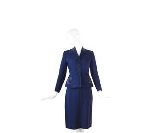 1940s Suit • Smart 40s Navy Blue Suit • WWII • Small S