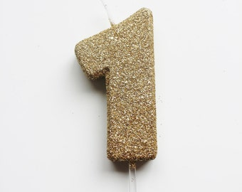 GLITTER GOLD CANDLE Number Birthday Cake Candles Photo Prop Cake Smash 1 1st 2nd 3rd 4th 5th 6th 7th 8th Kids First Birthday One Cake Topper