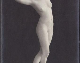 Mature German Nude, Living Marble Statue, circa 1910