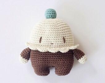 Chocolat Cupcake Cushion
